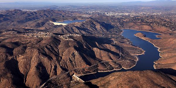 aerial of reservoir