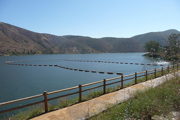 lake with traffic mitigration