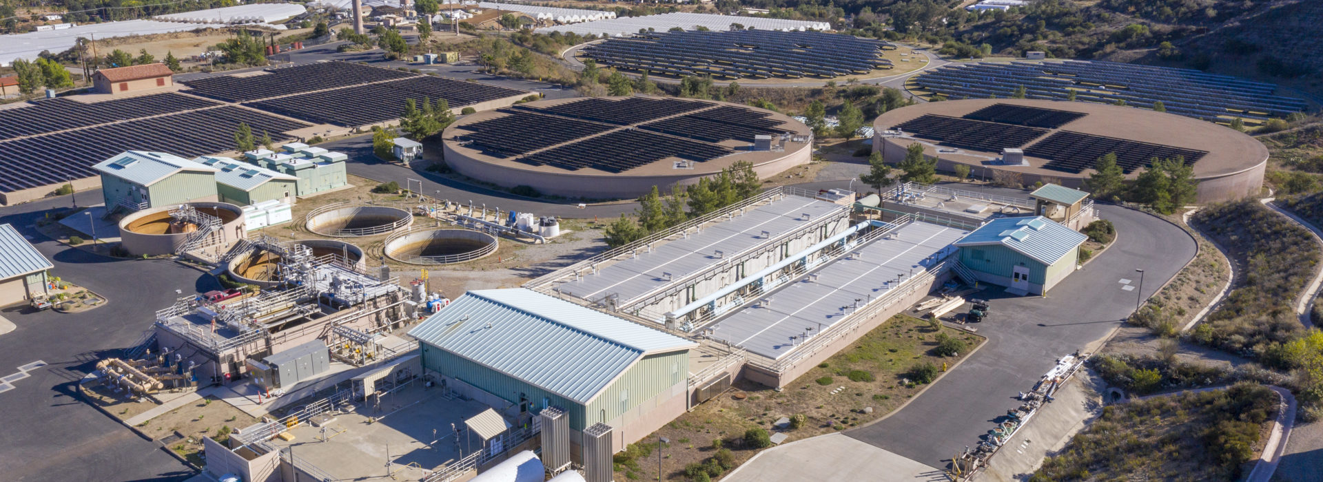 aerial view of the twin oaks plant