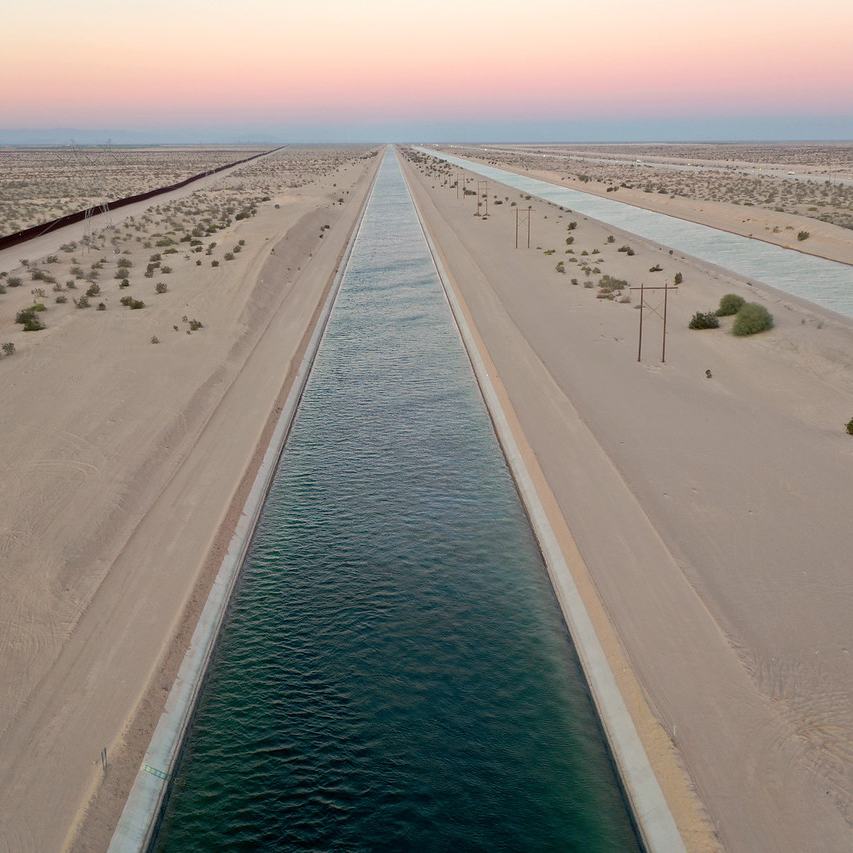 all american canal at sunset