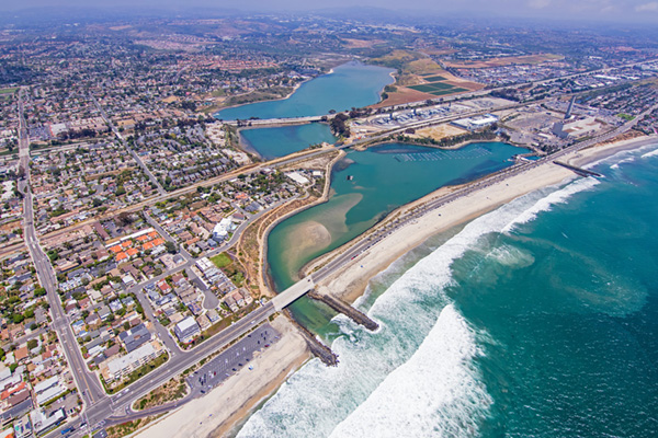 aerial view of carlsbad desalination plant