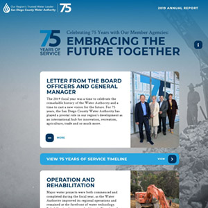 annual report homepage says 75 years