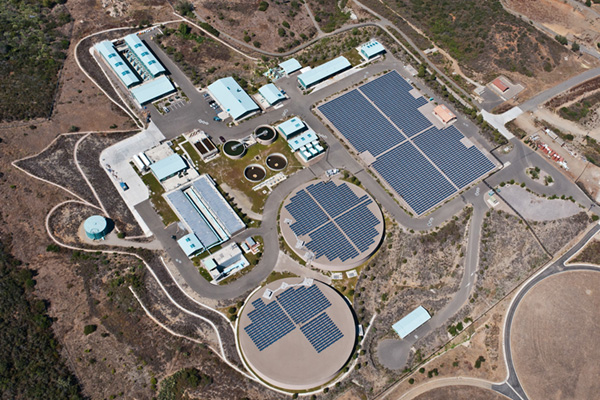 solar panels aerial view