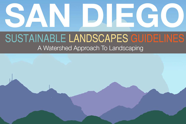 cover of the san diego sustainable landscapes guide
